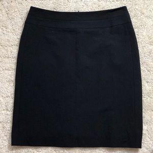 Antonio Melani Navy Pinstripped Pencil Skirt